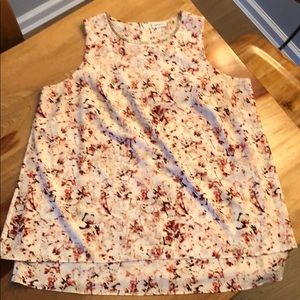 DKNYC Floral and Jewel Neckline Size 1X Blouse